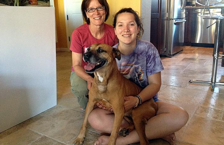 Layla the Vicktory dog with Tess and Rowan