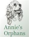 Annie's Orphans (Durango, Colorado) logo with a drawing of a cocker spaniel-type dog